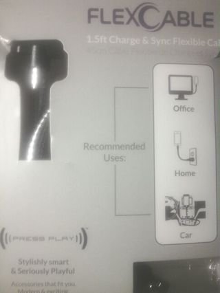 FlexCable Charger for Ipods and Iphones.