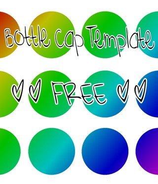 free 4x6 bottle cap template other craft items listia com