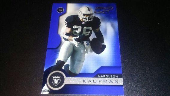 2001 QUANTUM LEAF NAPOLEON KAUFMAN OAKLAND RAIDERS FOOTBALL CARD