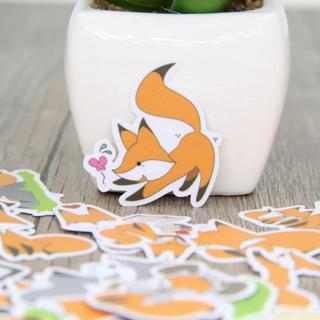 40 Pcs Fox homemade expression Stickers for Fashion Laptop Snowboard Home Decor Car Styling Decal