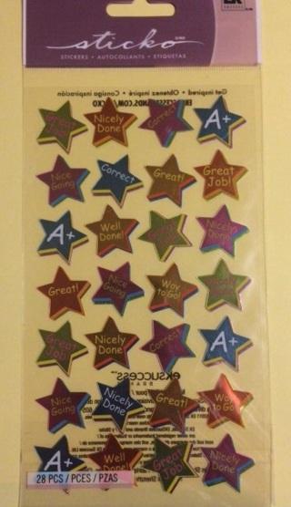 Star reward sticker sheet