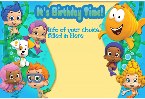 Free CUSTOM BUBBLE GUPPIES INVITATION TEMPLATE Birthday – Bubble Guppies Party Invites