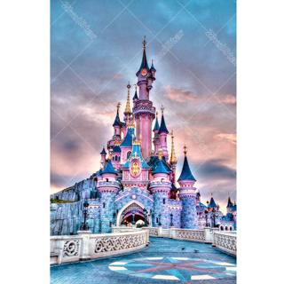 "✿Free Shipping✿ Full Square 5D DIY Diamond Painting ""castle"" 20x30cm x1pc"
