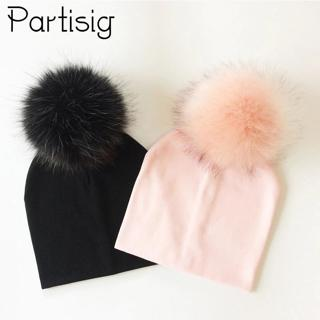 Baby Hat Kids Cotton Pompom Hat Winter Cap For Baby Girls And Boys Children's Accessories