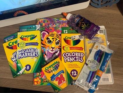 Crayola, paper mate, Lisa frank..etc lot