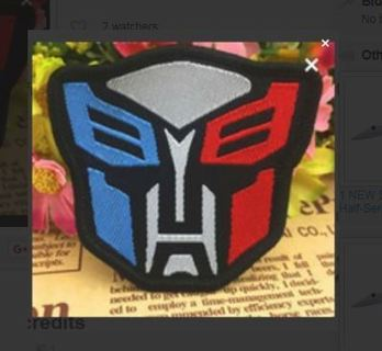 Vintage Optimus Prime Sew ON Patch Transformer Clothing Embroidered Applique Badge FREE SHIPPING
