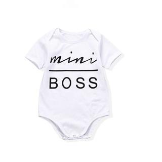 Oklady Baby Girl Boy Clothes Newborn Infant Outfit Bodysuit Mini Boss Letter Printing Girl Boy Clo