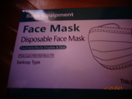 25 disposable masks