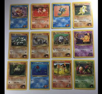 Pokemon GYM HERO Cards *LUCK OF THE DRAW*Mixed POKEMON English Japanese GIN