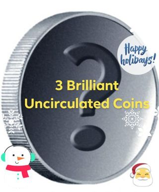 3 Brilliant Uncirculated Coins Mystery Lot