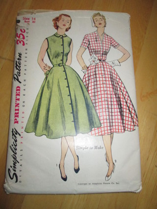 Free Vintage Swing Dresssewing Pattern Simplicity 3851s Mpin Up