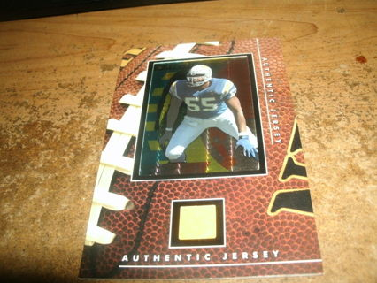 junior seau-hof-chargers-authentic jersey relic framed card-mt-nfl