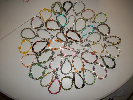LOT OF 40 BRACELETS (BEADED) Resell, Re-craft or Wear