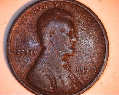 1909 lincoln wheat penny
