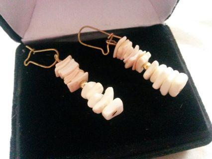 Pretty Coral Toned Earrings