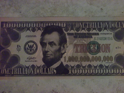 1 000 Dollar Novelty Banknote Realistic Abraham Lincoln