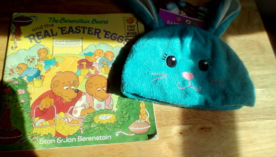Easter Book & New Hat