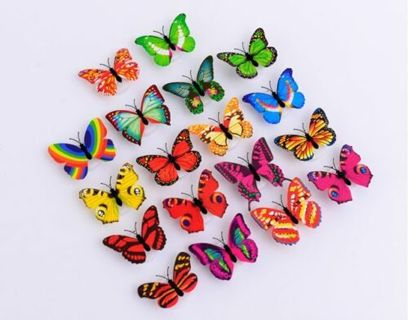 Hot Charm Butterfly LED Lamp Colorful Changing Night Light Home Decor