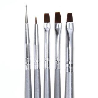 5 in 1 Nail print pen Acrylic Nail Brush Kit Art Set UV gel brush Nail art Tool  Kits  Fashion Eco