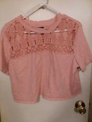 Women's Rue 21 brand knitted seethrough around th neck and shoulder area shirt / top size XL