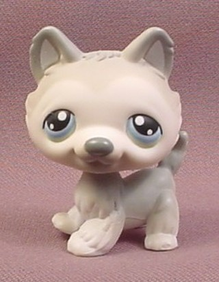Free Littlest Pet Shop Lps 69 Gray And White Husky Puppy With Blue
