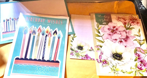 2 Brand New Unused Greeting Cards w/Matching Envelopes! 1 Birthday, 1 Thinking Of You! Free Ship!
