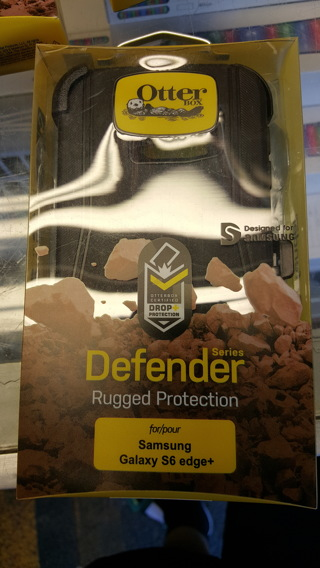 Defender Series Otterbox w/Clip for Samsung Galaxy S6 edge+ BNIP ALL BLACK