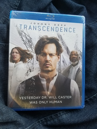 New & Sealed Blu-Ray Disc---Transcendence Rated PG-13