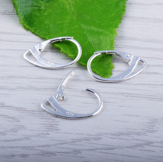 20PCs Silver Plated Women Earring Clip Lever Back French Ear Clip Jewelry Finding