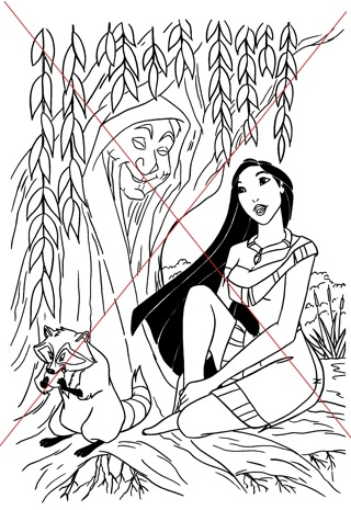 Disney Princess Pocahontas Coloring Pages