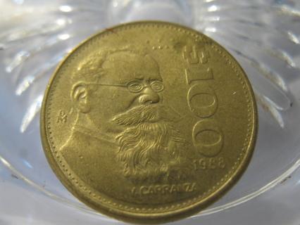 (FC-160) 1988 Mexico: 100 Pesos