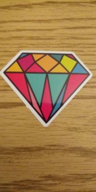 Color diamond sticker