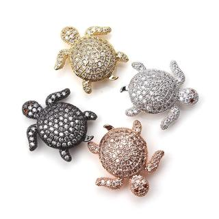 1pc 18*20mm Charms tortoise turtle sea white crystal charms Pendant Findings Accessories DIY Vinta