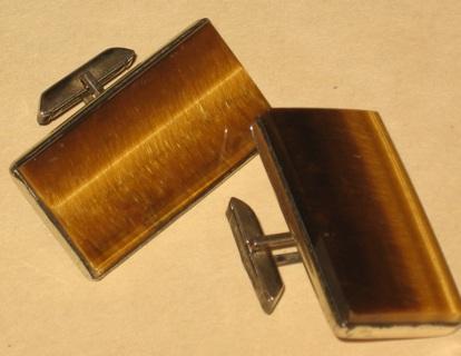 vintage sterling ed harris hinged cuff links