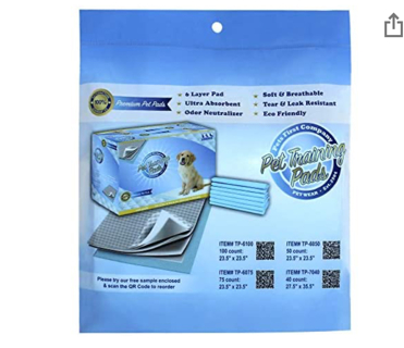 20% OFF! Pets First Deluxe Training Pads Sample Newest Version