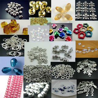 200+ Pieces Gemstones, Beads, Charms, Supplies, etc
