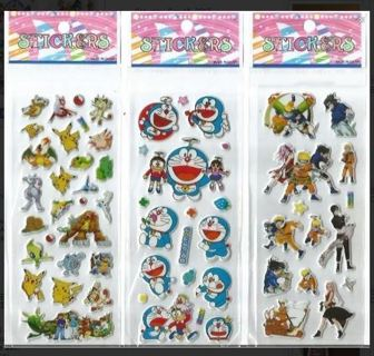 JAPANESE Anime Manga Pop Up BUBBLE Stickers Vibrant Detailed Variety FREE SHIPPING