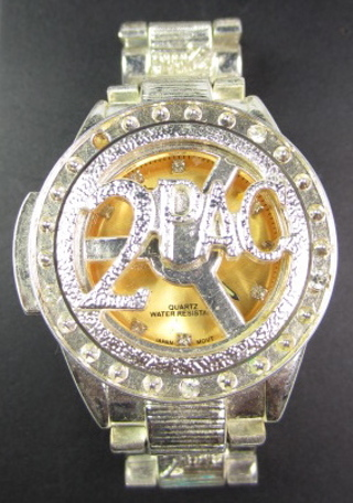 Free paul jardin hip hop spinner iced out 2pac gents for Paul jardin quartz watch