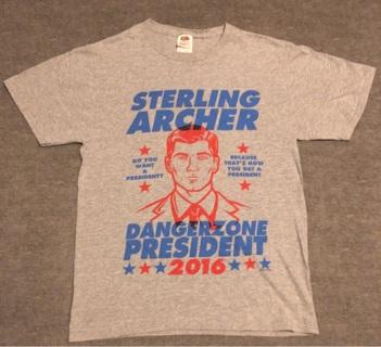 Sterling Archer - Dangerzone President 2016 - T-Shirt