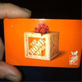 $ 10.00 Home Depot  Card