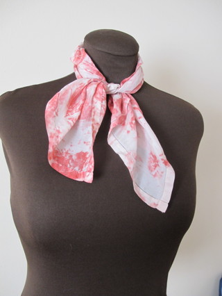 Red and White Tie Dye Unisex Bandanna
