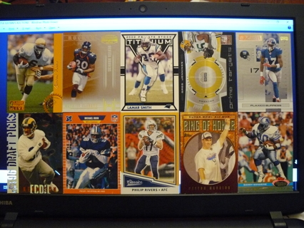 (10) Football Cards Stars, HOFers, Serial #'d or Inserts - LOT 6 - Read Details