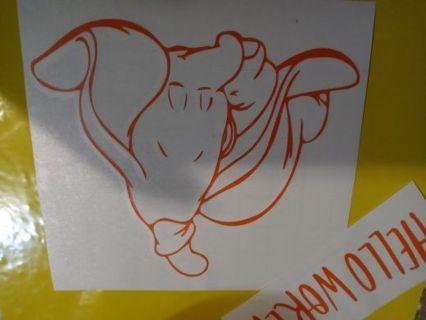 2 piece decal sticker