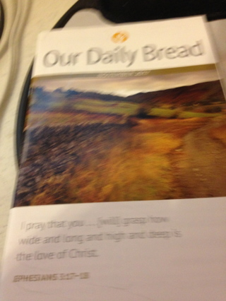 Christian Booklet our Daily Bread 1 month daily devotionals