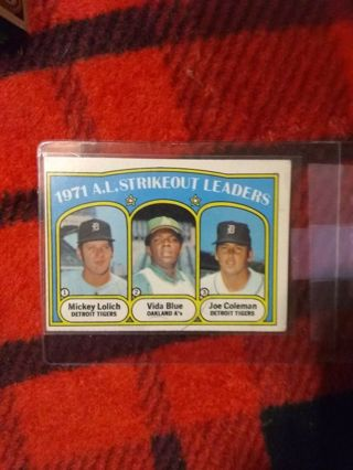 1972 Topps '71 A.L. K's Leaders