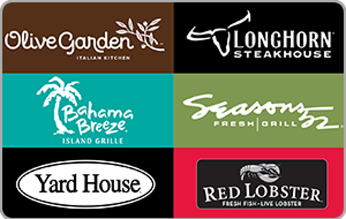 Free 25 Restaurant Gift Card Olive Garden Red Lobster Longhorn Steakhouse Gift Cards