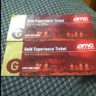 FREE TWO AMC GOLD EXPERIENCE MOVIE TICKETS