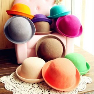 Fashion Summer Classic Style Vogue Vintage Lady Wool Cute Bowler Derby Hat