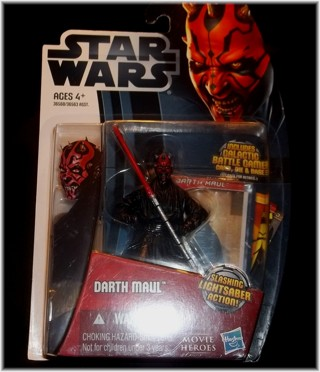 *New* Darth Maul w/ Flashing Lightsaber-Star Wars Movie Heroes Action Figure By Hasbro