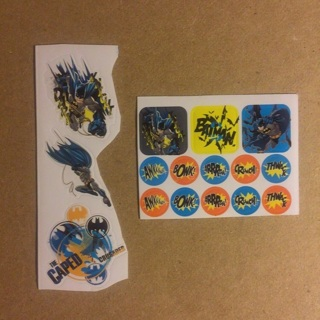 DC Comics Batman Stickers ~ 16 STICKERS TOTAL ~ NEW!